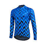 Sports Cycling Jersey Men's Long Sleeve Bike Breathable / Sweat-wicking / Comfortable / Lightweight Materials / Back Pocket JerseyCoolmax