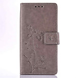Five Leaves and Flowers Embossed PU Leather Material Leather  for LG K4 K8 K10 K7 G5
