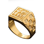 Ring Fashion Daily / Casual Jewelry Copper Women / Men Band Rings 1pc,9½ Gold