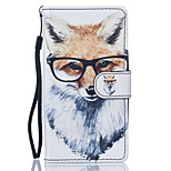 Dog with Glasses Pattern PU Leather Full Body Case with Stand for Huawei Y560 Y5 II Honor5C Honor8