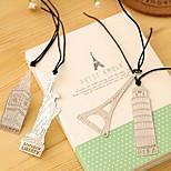 Europe Tower Stationery Retro Metal Bookmark Metal Bookmark Aesthetic Binder
