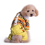 Cat / Dog Shirt / T-Shirt / Clothes/Jumpsuit Yellow / Blue Dog Clothes Winter / Spring/Fall Floral / Botanical Holiday / Fashion