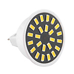 5W GU5.3(MR16) LED Spot Lampen MR16 24 SMD 5733 400-500 lm Warmes Weiß / Kühles Weiß Dekorativ AC 220-240 / AC 110-130 V 1 Stück