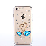 Handmade Rhinestone Swan Pattern PC Hard Case for iPhone 7 7 Plus 6s 6 Plus SE 5s 5 4s 4