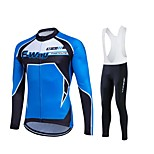 Fastcute® Maglia con salopette lunga da ciclismo Per donna / Per uomo / Unisex Maniche lunghe BiciclettaTraspirante / Asciugatura rapida