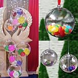 10pcs christmas decor árvore caixa Tipo ornamento cinco centímetros bola de artesanato de plástico transparente caixas de presente de