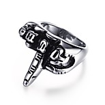 Men's  Fashion Personality One- Finger Salutu  Stainless Steel High Polished Band Rings(1Pc)