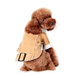 Gatti / Cani Costumi / Cappottini Verde / Blu / Marrone / Caffè Abbigliamento per cani Inverno / Primavera/Autunno Tinta unita / BritshDi