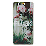 Flower Pattern Material TPU Phone Case For Huawei P9 P9 Lite