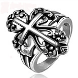 Vintage Ring Men Stainless Steel Cross Ring Retro Men Jewelry Crown Ring Bague Homme