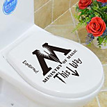 1pc Creative Personality Home Furnishing The Toilet Stickers