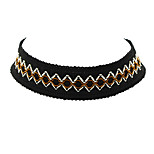 Gothic Style Wide Braided Rope Choker Collar Necklaces
