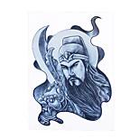 1pc Women Men Body Art Temporary Tattoo Chinese Sketch Guan Yu Broadsword Style Design Arm Tattoo Sticker HB-313