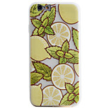 Lemon Yellow Pattern Simple Matte Material TPU Phone Case For iPhone 6s 6 Plus SE 5s 5