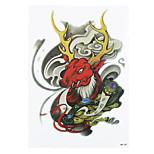 1pc DIY Women Men Temporary Body Arm Art Tattoo Mythical Creatures Copper Plate God Tattoo Sticker HB-297