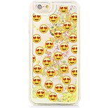 Cartoon Smiley Flowing Quicksand Liquid/Printing Pattern PC Hard Back Case For iPhone 6s 6 Plus SE/5s/5