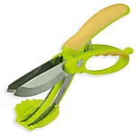 Toss and Chop Salad Scissors Tongs Fruit Vegetable Cutters Kitchen Tool Random Color