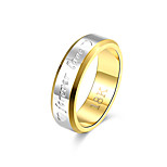 Double circle love ring