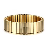 Men's Bangles Stainless Steel High Polished Gold-Plated Punk Style Party Daily Halloween Gift Birthday Gift (1Pc)