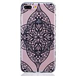 TPU Material Black Love Pattern Painted Slip Phone Case for iPhone 7 Plus/7/6s Plus / 6 Plus/6S/6/SE / 5s/5/5C