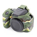 D5500 Korea Style Silicone Camera Case for Nikon D5500 DSLR Camera(Black/Green)