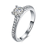 lureme Elegant 18kRPG Cubic Zirconia Engagement Ring