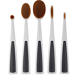 5 Makeup Brushes Brown Set / Blush Brush / Concealer Brush / Powder Brush / Foundation Brush