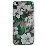 Para Funda iPhone 6 / Funda iPhone 6 Plus / Funda iPhone 5 Transparente / Diseños Funda Cubierta Trasera Funda Flor Suave TPU AppleiPhone