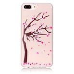 TPU Material Peach Tree Pattern Luminous Soft Shell Phone for iPhone 7 Plus/7/6s Plus / 6 Plus/6S/6/SE / 5s/5