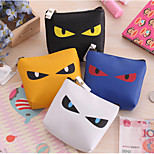 Evil Cat Eyes Pattern PU Laether Change Purse  Random Color