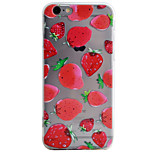 Strawberry Pattern High Permeability TPU Material Phone Case For iPhone 6s 6Plus SE 5S 5