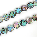 Beadia 15mm Round Natural Abalone Sea Shell Beads (38cm/approx 25pcs)