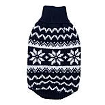 Dog Sweater Red / Dark Blue Dog Clothes Winter Snowflake Keep Warm
