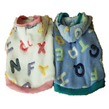 Holdhoney Dog Hoodie Blue / Pink Dog Clothes Spring/Fall Letter & Number Fashion (#LT15050279)