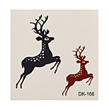 1pc Colorful Waterproof Tattoo Two Deers Small Temporary Tattoo Sticker 6*6cm