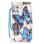 Butterfly Pattern Perspective Shiny Glare Material PU Leather Card Holder for  iPhone 7 7 Plus 6s 6 Plus SE 5s 5