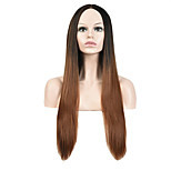 Points Black Gray Gradient in Europe And the United States Lolita Lolita Cosplay Long Straight Hair
