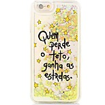 Word/Phrase Flowing Quicksand Liquid/Printing Pattern PC Hard Back Fundas For iPhone 6s Plus/6 Plus/6s/6/SE/5s/5