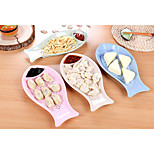 Wheat Straw Plate Type Fish Dumplings Plate With Double Drop Vinegar Dish Plate In The Kitchen