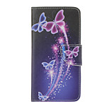 PU Leather Purple Butterfly Pattern Wallet Case with Card Slots for iPhone 7 Plus 7 6s Plus 6 Plus 6S 6 SE 5s 5