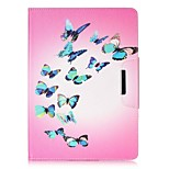Butterfly Pattern Wake Up PU Leather Flip Full Body Case for iPad mini123 iPad mini 4