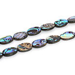 Beadia 13x18mm Oval Natural Abalone Sea Shell Beads (38cm/approx 21pcs)