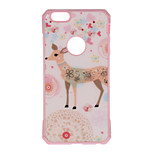 Giraffe Pattern Metal Plate Inlay TPU Back Case for iPhone 7 7 Plus 6s 6 Plus SE 5s 5