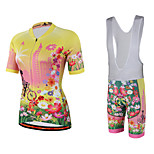 Miloto® Cycling Jersey with Bib Shorts Women's Short Sleeve BikeBreathable / Quick Dry / Moisture Permeability / YKK Zipper /