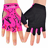 Women's Outdoor Riding Cyling Gloves Fitness Equipment Dumbbell Skid Half Finger Sports Gloves 1 Pair