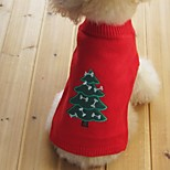 Cat / Dog Sweater Red / Yellow / Blue / Black Dog Clothes Winter / Spring/Fall Snowflake Keep Warm / Christmas / New Year's /