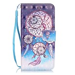 Campanula Pattern Perspective Shiny Glare Material PU Leather Card Holder for  iPhone 7 7 Plus 6s 6 Plus SE 5s 5