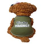 Hunde Weste Grün Hundekleidung Sommer Buchstabe & Nummer Modisch