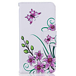 Flower Pattern Material PU Card Holder Leather for  iPhone 7 7 Plus 6s 6 Plus SE 5s 5 5C 4S