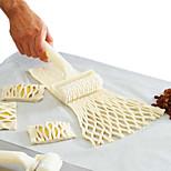 1pcs Cozimento Cabos / Ferramenta baking / Alta qualidade Pão / Bolo / Biscoito / Torta / Pizza Plástico Cortadores de Bolos e Bolachas